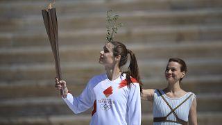 Greece Tokyo Olympics Flame Virus Outbreak