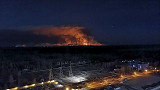 Τσερνόμπιλ: Πυρκαγιά και ραδιενέργεια