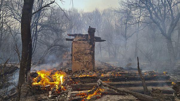Incendi a Chernobyl