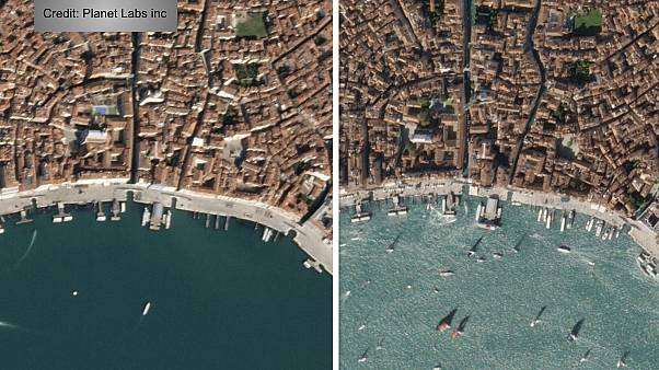 Interactive: World sites pictured from space before and after lockdown