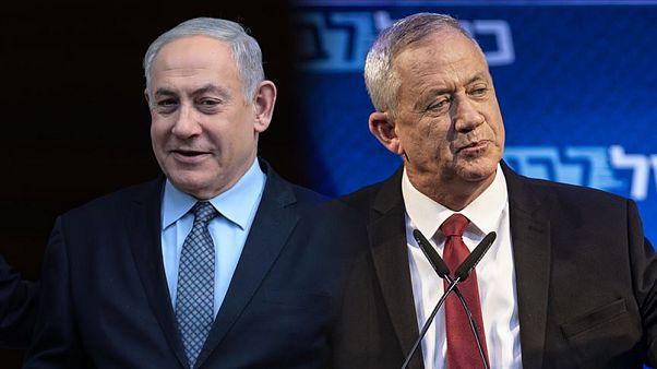 İsrail Başbakanı Netanyahu, rakibi Mavi Beyaz İttifakı lideri Gantz