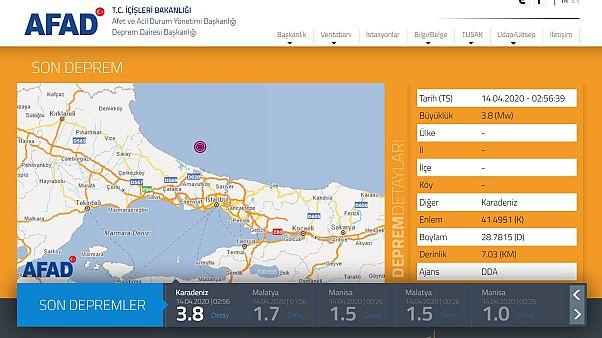 İstanbul'da 4,1 büyüklüğünde deprem meydana geldi