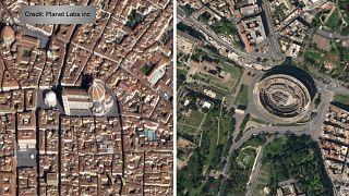 Coronavirus, le FOTO satellitari dei siti turistici prima/dopo le misure di contenimento