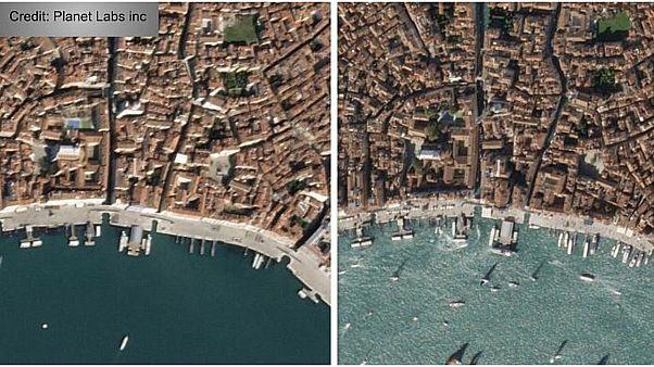 بالصور: من أمريكا إلى أوروبا وآسيا.. مدن العالم ما قبل وبعد الحجر المنزلي بسبب كورونا