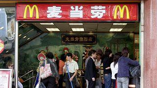 Çin'de bir McDonalds restoranı