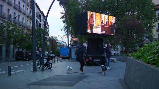 سینمای سیار در خیابانهای مادرید