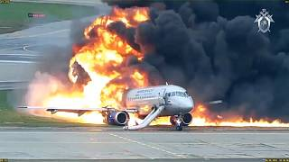 Dramatic video of deadly Sheremetyevo plane fire