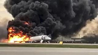 Espeluznantes imágenes del accidente de Aeroflot de hace un año