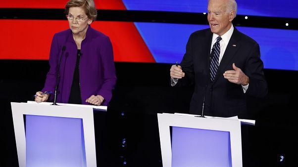 A Demokrata Párt elnökjelölt-aspiránsainak vitája 2020. január 14-én --- Des Moines, Iowa