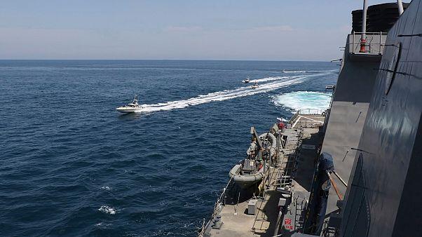İran botlarından körfezde ABD savaş gemilerine taciz