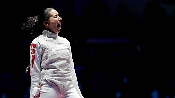 Tunisian Olympic medalist Ines Boubakri shares home training tips