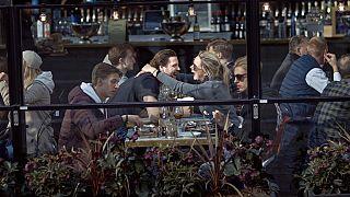 Un restaurante de Estocolmo el 4 de abril.