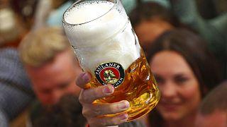 Almanya'da 186 yıldır devam eden festival Oktoberfest'ten bir kare.