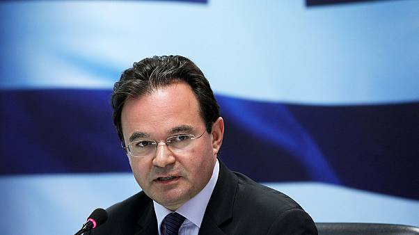 File - July 5, 2010, then Greek Finance Minister George Papaconstantinou speaks during a news conference in Athens