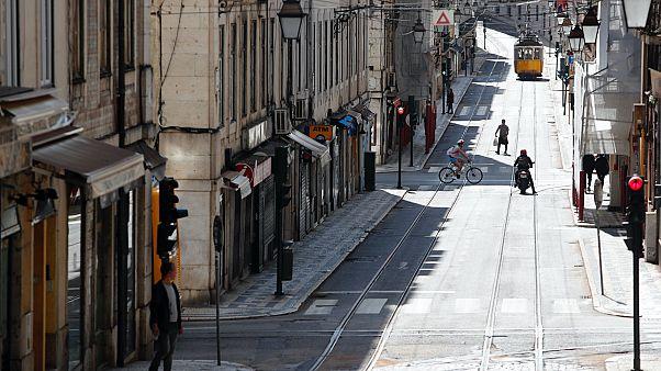 Kihalt Lisszabon belvárosa