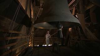 Notre Dame Cathedral`'s bell rings a year after devastating fire