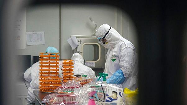تصویری از آزمایشگاه ویروسشناسی ووهان. فوریه ۲۰۲۰
