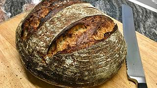 Pan casero en una cocina de Londres