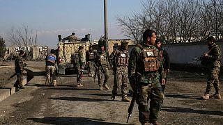 نیروهای امنیتی دولت افغانستان در نزدیکی پایگاه بگرام (عکس تزئینی است)