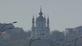 Киев в дыму от пожаров