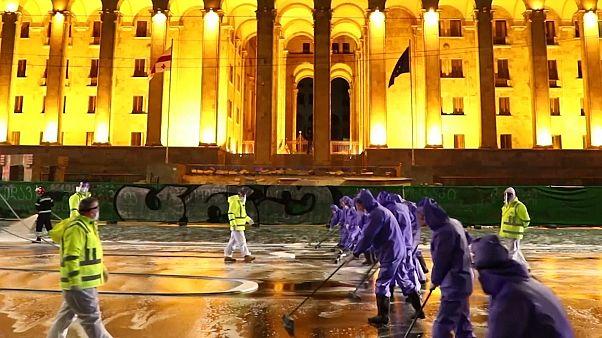 Fertőtlenítik Tbiliszi utcáit