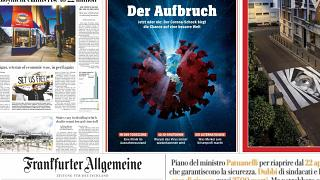 How are Europe's front pages covering the COVID-19 pandemic?