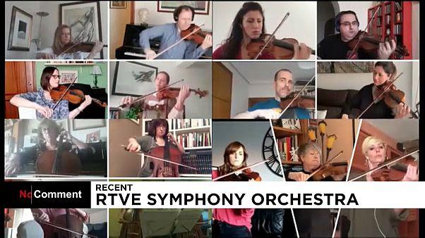 Az RTVE Zenekar és Kórus a virtuális térben éli át a közös zenélés örömét