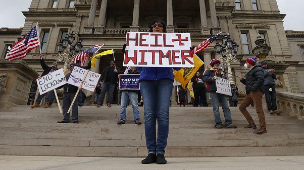 متظاهرون ضد الحجر الصحي في ميشيغان