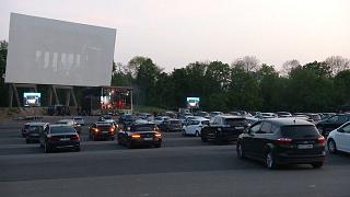 Let's party! People attend German concert drive-in cinema style