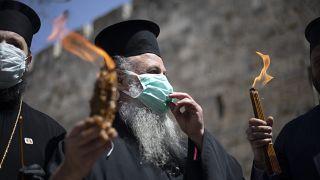Sacred rite for Orthodox Christians in Bethlehem marred by coronavirus