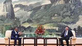 Dünya Sağlık Örgütü Başkanı Tedros Adhanom ile Çin Devlet Başkanı Şi Jinping