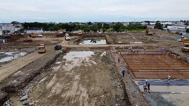 Cementerio en construcción en Guayaquil