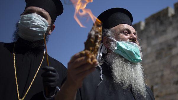APTOPIX Virus Outbreak Mideast Jerusalem Holy Fire