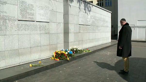 In Warschau gedachte man des Aufstandes der Warschauer Juden im Jahr 1943.