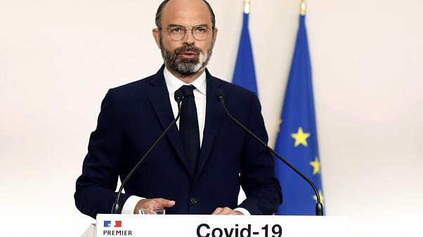 French Prime Minister Edouard Philippe gives a press conference updating the nation COVID-19