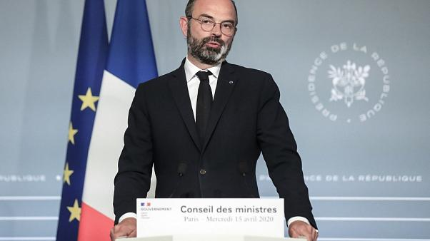French Prime Minister Edouard Philippe speaks during a press conference