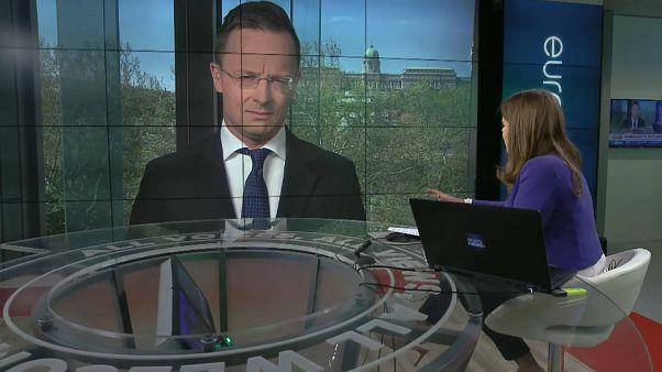 Ungarns Außenminister Peter Szijjarto im Euronews-Interview