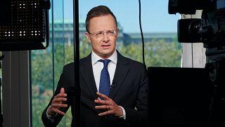 Szijjártó Péter, magyar külügyminiszter az Euronewsnak nyilatkozik Budapestről