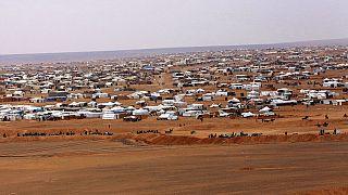 مخيم الركبان في الصحراء السورية على الحدود مع الأردن