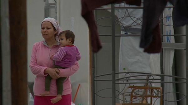 Flüchtlingsunterkunft in Griechenland unter Corona-Quarantäne