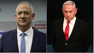 Benny Gantz (left) and Benjamin Netanyahu (right) and agreed to a coalition