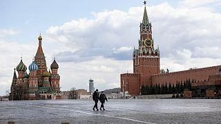 Isolierte Senioren in Moskau