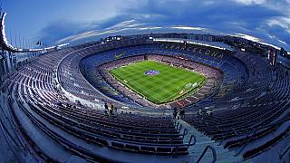 A general view of the Camp Nou stadium.