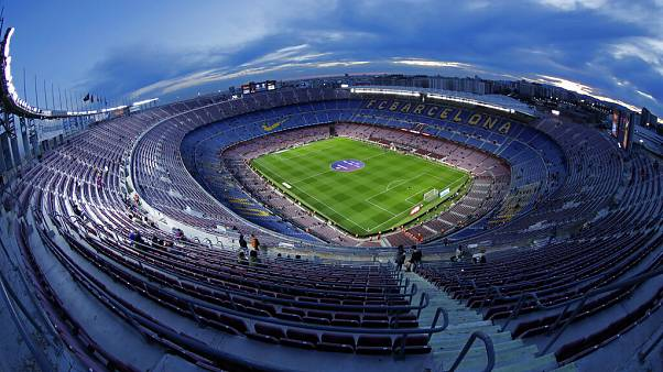 Virus Outbreak Soccer Barcelona Camp Nou