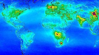 Dünya nitrojendioksit haritası