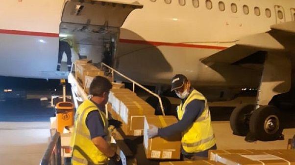 Στην Κύπρο επτά τόνοι εξοπλισμού από την Κίνα