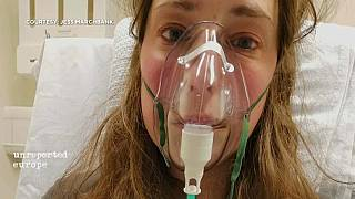 For Jess Marchbank, the first sign of illness was a mild sore throatEuronews