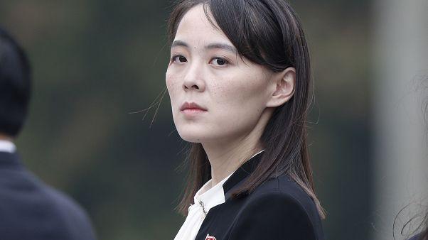 كيم يو جونغ شقيقة زعيم كوريا الشمالية كيم جونغ أون خلال زيارة قامت بها إلى فيتنام في 2019