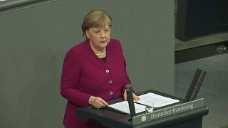 Bundeskanzlerin Angela Merkel lehnt Gemeinschaftsschulden der EU erneut ab