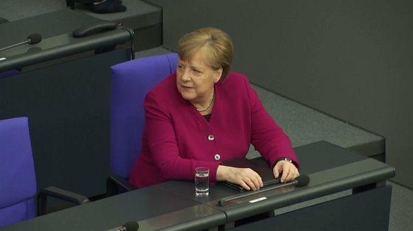 Angela Merkel am Donnerstag im Deutschen Bundestag